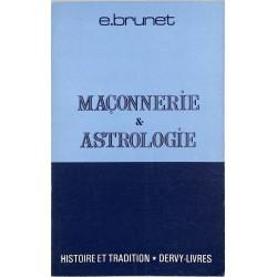 ABAO Franc-Maçonnerie Brunet (E.) - Maçonnerie & astrologie.