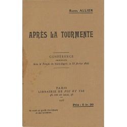 ABAO Philosophie Allier (Raoul) - Après la tourmente.