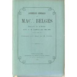 ABAO Franc-Maçonnerie Assemblée générale des maçons belges 1876.