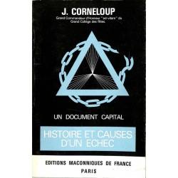 ABAO Franc-Maçonnerie Corneloup (J.) - Histoire et causes d'un échec.