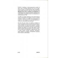 ABAO Franc-Maçonnerie Lemaire (Jacques) - Les Origines françaises de l'antimaçonnisme.