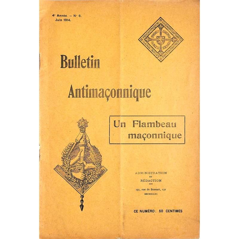 ABAO Franc-Maçonnerie [Anti-maçonnerie] Bulletin antimaçonnique. 1914-06.