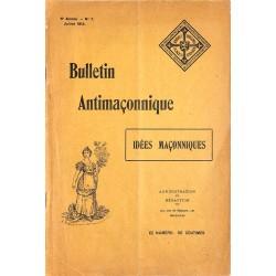 ABAO Franc-Maçonnerie [Anti-maçonnerie] Bulletin antimaçonnique. 1914-07.