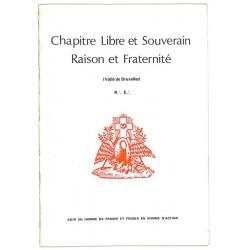 ABAO Franc-Maçonnerie Chapitre libre et souverain Raison et Fraternité - Rituel de IVème degré.