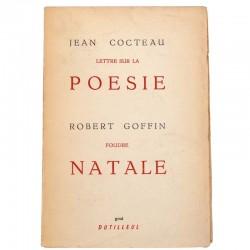 ABAO Poésie Cocteau (Jean) - Lettres sur la poésie. / Goffin (Robert) - Foudre natale.