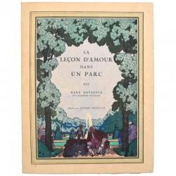 ABAO Grands papiers Boylesve (René) - La Leçon d'amour dans un parc. Illustrations de Pierre Brissaud.