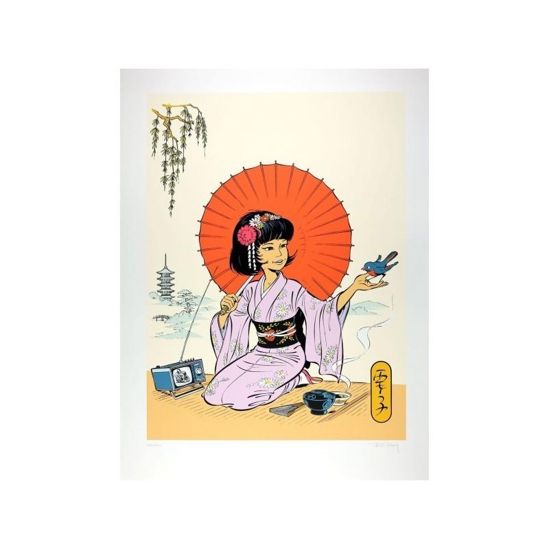Sérigraphies & posters LELOUP, Roger : Yoko et l'ombrelle
