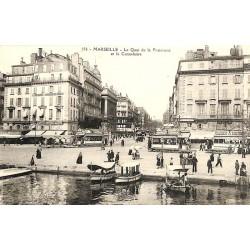 ABAO 13 - Bouches-du-Rhône [13] Marseille - Le Quai de la fraternité et la Cannebière.