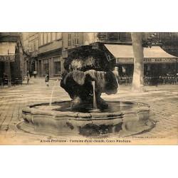 ABAO 13 - Bouches-du-Rhône [13] Aix-en-Provence - Fontaine d'eau chaude, Cours Mirabeau.