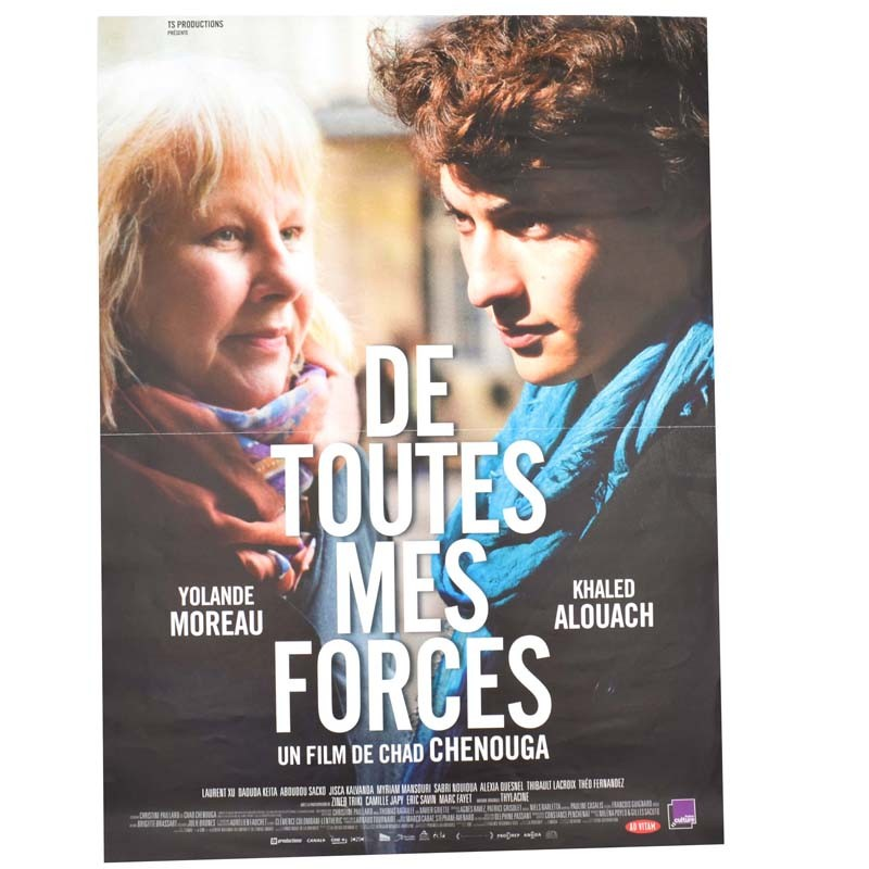 ABAO Cinéma De toutes mes forces. [Affiche originale 40 x 53]
