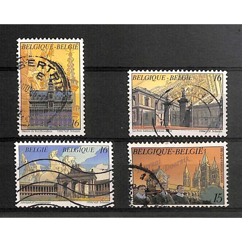 ABAO Philatélie [Schuiten (François)] 4 timbres.