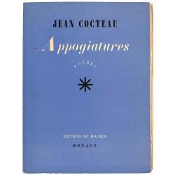 ABAO Grands papiers Cocteau (Jean) - Appogiatures. EO.