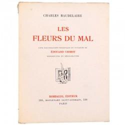ABAO Poésie Baudelaire (Charles) - Les Fleurs du mal. Illustrations de Édouard Chimot.