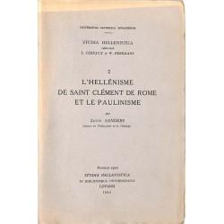 ABAO Philosophie & Spiritualité Sanders (Louis) - L'Hellénisme de Saint Clément de Rome et le Paulinisme.