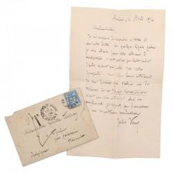 ABAO Lettres et manuscrits Verne (Jules) - Lettre autographe signée. 1894.