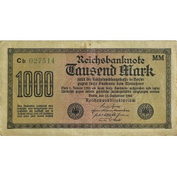 ABAO Billets, actions, monnaies [DE] 1000 Mark. 1922. Banknote Inflation.