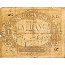 ABAO Billets, actions, monnaies [FR] 1 Franc. Lille. 1870.