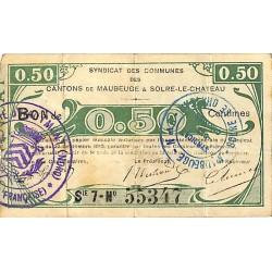 ABAO Billets, actions, monnaies [FR] 0.50 Syndicat des communes. 1915.