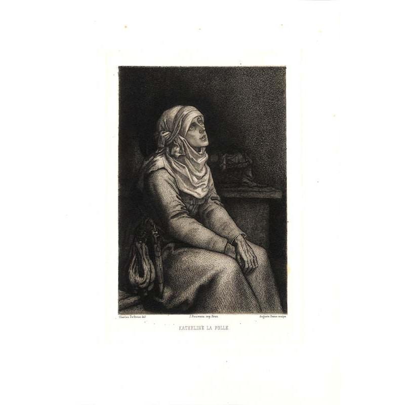 ABAO Gravures de Groux (Charles) & Danse (Antoine) - Katheline la folle.