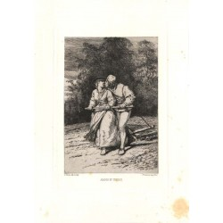 ABAO Gravures Dillens (Adolf) - Amour & travail.