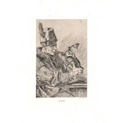 ABAO Gravures Rops (Félicien) - Le Buveur.