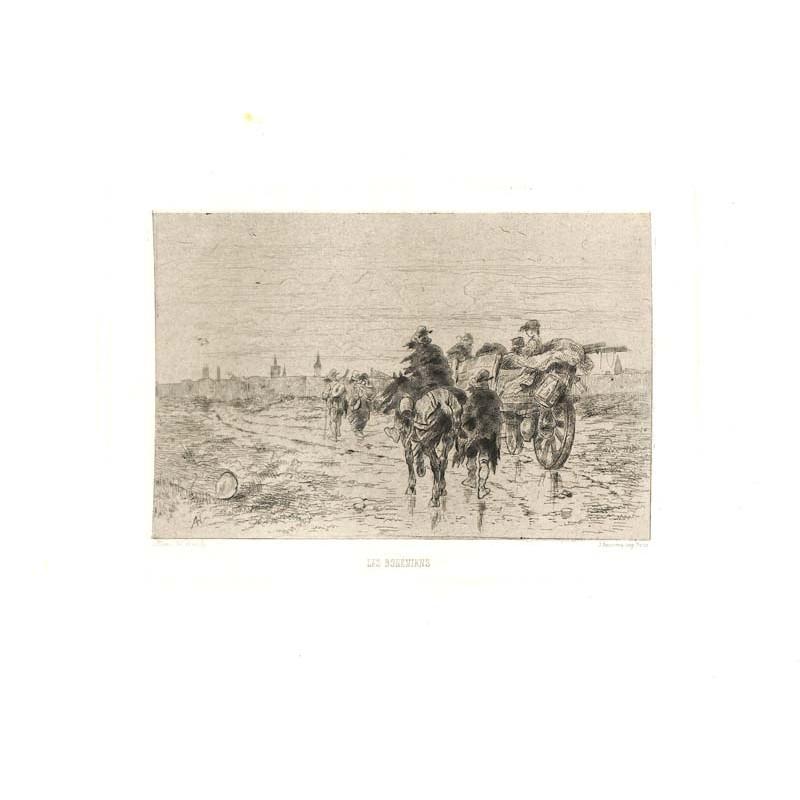 ABAO Gravures Hubert (Alfred) - Les Bohémiens.