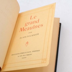 ABAO Littérature Alain-Fournier - Le Grand Meaulnes.