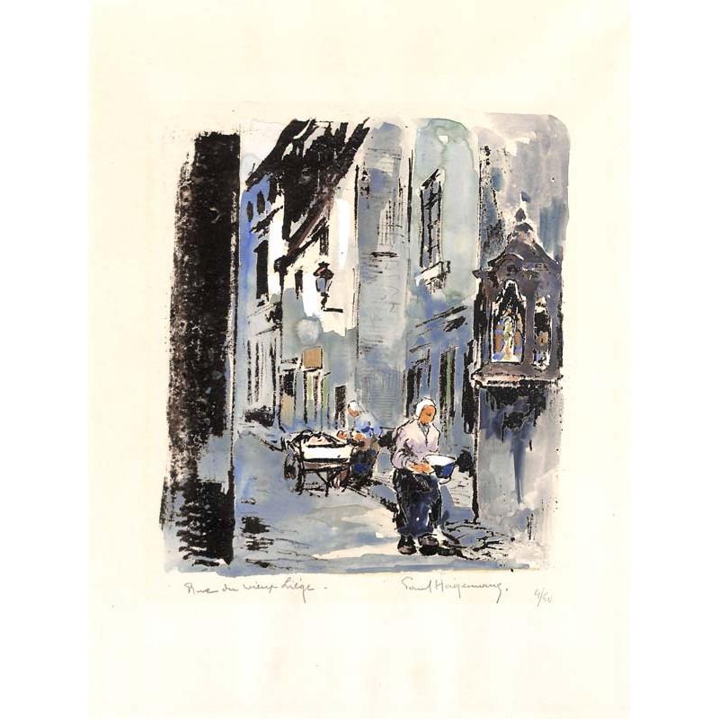 ABAO Gravures Hagemans (Paul) - Rue du Vieux Liège, Bruxelles.