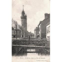 ABAO 27 - Eure [27] Evreux - Un bras de l'Iton et la Tour de l'Horloge.