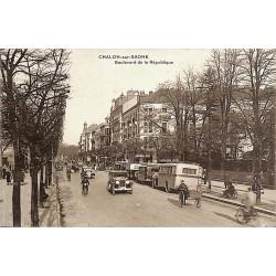 ABAO 71 - Saône-et-Loire [71] Chalon-sur-Saône - Boulevard de la République.