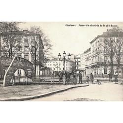 Hainaut Charleroi - Passerelle et entrée de la ville basse.