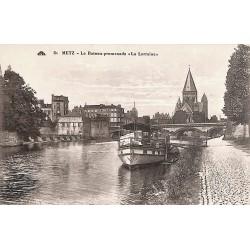 "57 - Moselle [57] Metz - Le Bateau-promenade ""La Lorraine"""
