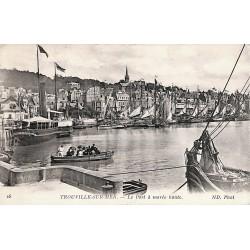 14 - Calvados [14] Trouville-sur-Mer - Le Port à marée haute.