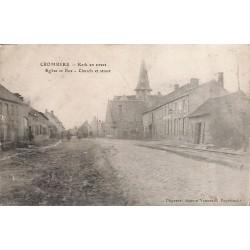 Flandre occidentale Poperinge - Crombeke. Eglise et Rue.