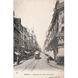 76 - Seine Maritime [76] Rouen - Perspective de la Rue Grand-Pont.