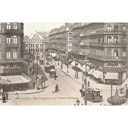 ABAO 59 - Nord [59] Lille - Rue Faidherbe et Théâtre Municipal.