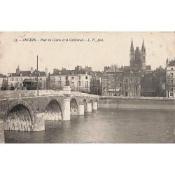 ABAO 49 - Maine-et-Loire [49] Angers - Pont du Centre et la Cathédrale.