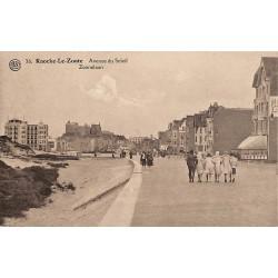 Flandre occidentale Knokke-Heist - Knocke-Le-Zoute. Avenue du Soleil.