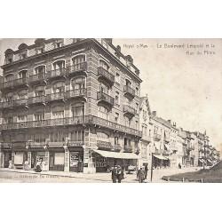 Flandre occidentale Knokke-Heist - Heyst sur Mer. Le Boulevard Léopold et la Rue du Phare.