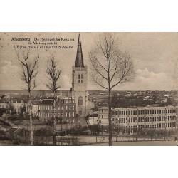 Brabant flamand Beersel - Alsemberg. L'Eglise ducale et l'institut St-Victor.