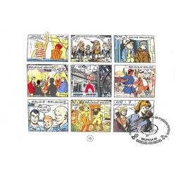 ABAO Bandes dessinées 9 timbres pour le 9e art. HOMMAGE. CBBD et La Poste. TL 2500 ex.