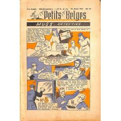 ABAO Bandes dessinées Petits Belges 27e année n°16 - 21/04/1946