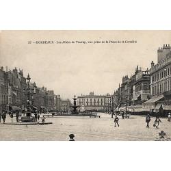 ABAO 33 - Gironde [33] Bordeaux - Les allées de Tourny, vue prise de la place de la Comédie.