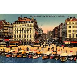 ABAO 13 - Bouches-du-Rhône [13] Marseille - Le Quai des Belges et la Canebière.