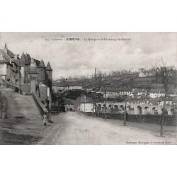 19 - Corrèze [19] Uzerche - La Rampe et le Faubourg Ste-Eulalie.