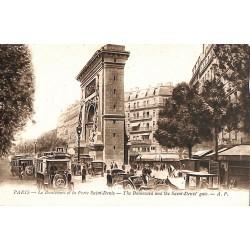 75 - Paris [75] Paris - Le Boulevard et la Porte Saint-Denis.