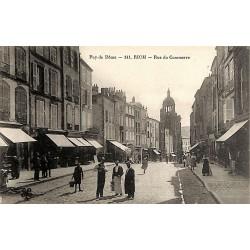 63 - Puy-de-Dôme [63] Riom - Rue du Commerce.