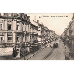 Brabant flamand Louvain - Avenue des Alliés vers la gare.
