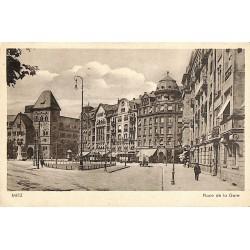 57 - Moselle [57] Metz - Place de la Gare.