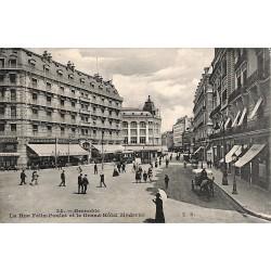 38 - Isère [38] Grenoble - La Rue Félix Poulat et le Grand Hôtel Moderne.